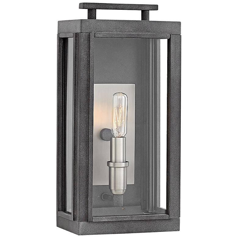 "Hinkley Sutcliffe 14"" High Aged Zinc Outdoor Wall Light"