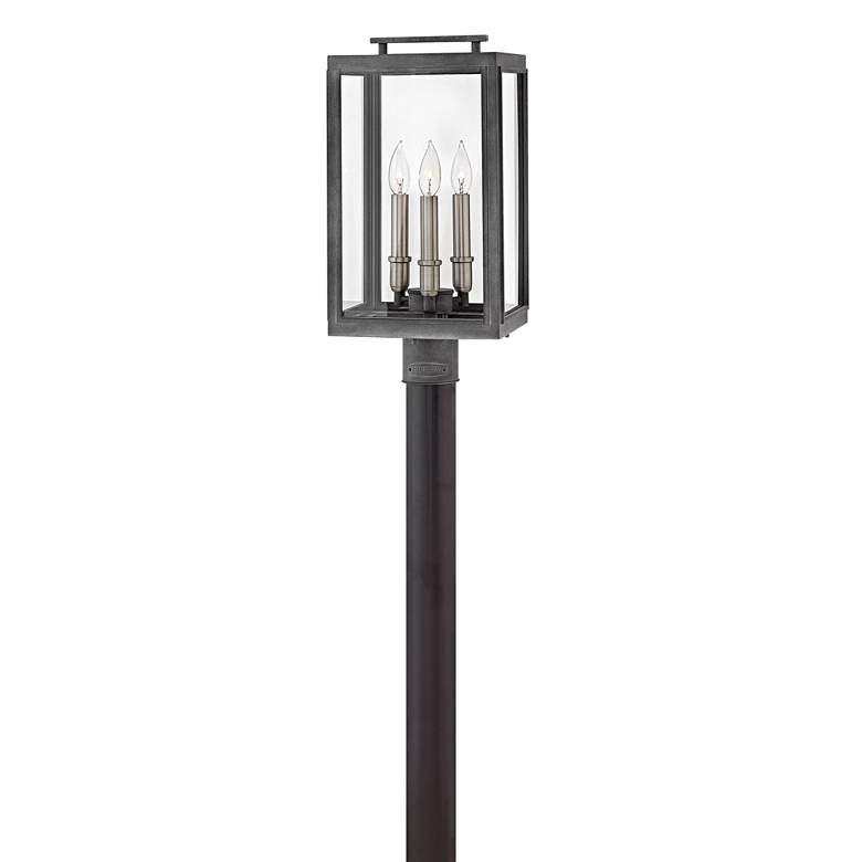 "Hinkley Sutcliffe 20"" High Aged Zinc Outdoor Post Light"