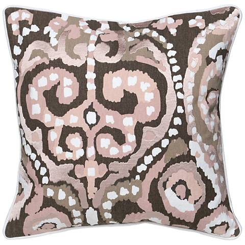 "Mina Multi-Color Blush 22"" Square Decorative Pillow"