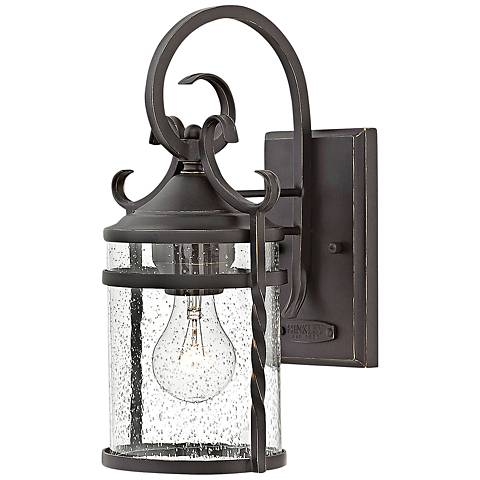 "Hinkley Casa 13"" High Olde Black Outdoor Wall Light"