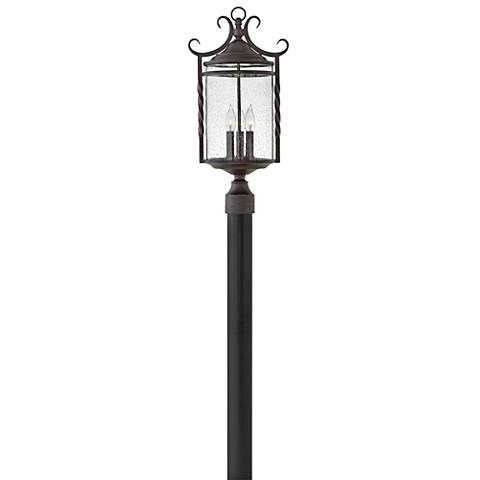"Hinkley Casa 23 3/4"" High Olde Black Outdoor Post Light"