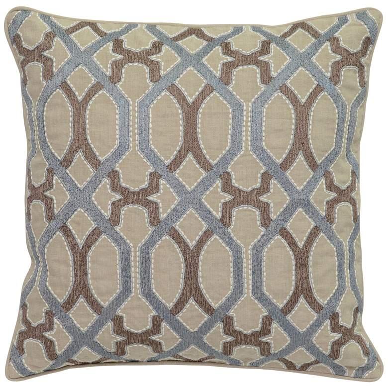 "Lois Harbour and Desert 22"" Square Decorative Pillow"