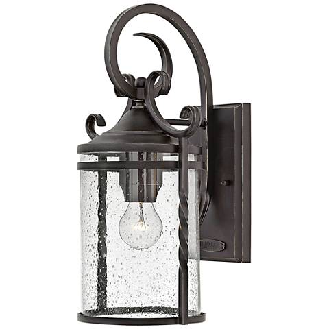 """Hinkley Casa 17 1/2"""" High Olde Black Outdoor Wall Light"""
