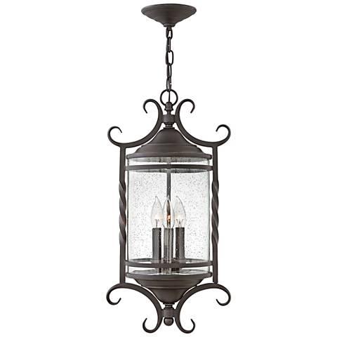 "Hinkley Casa 23 1/4"" High Olde Black Outdoor Hanging Light"