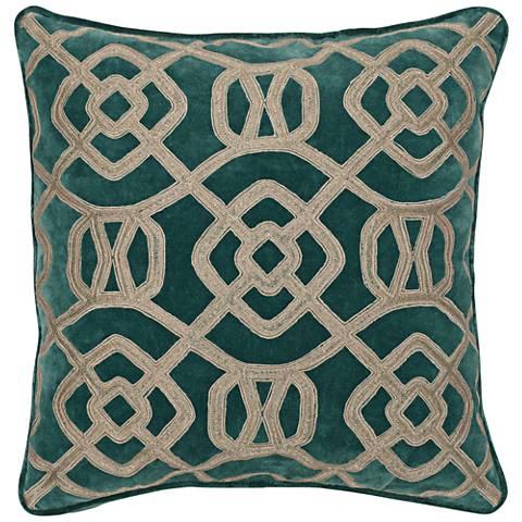 "London Mallard 22"" Square Decorative Pillow"