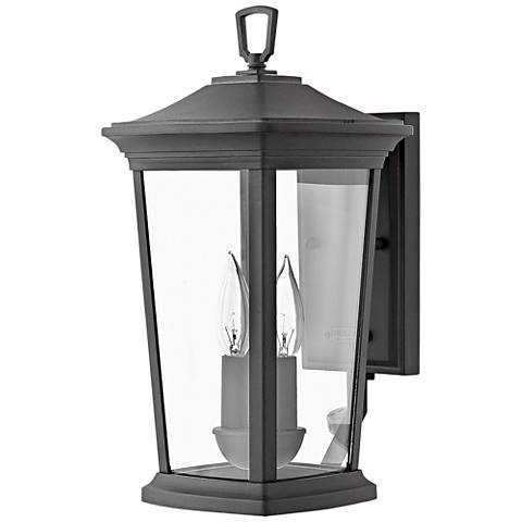"""Hinkley Bromley 15 1/2"""" High Museum Black Outdoor Wall Light"""