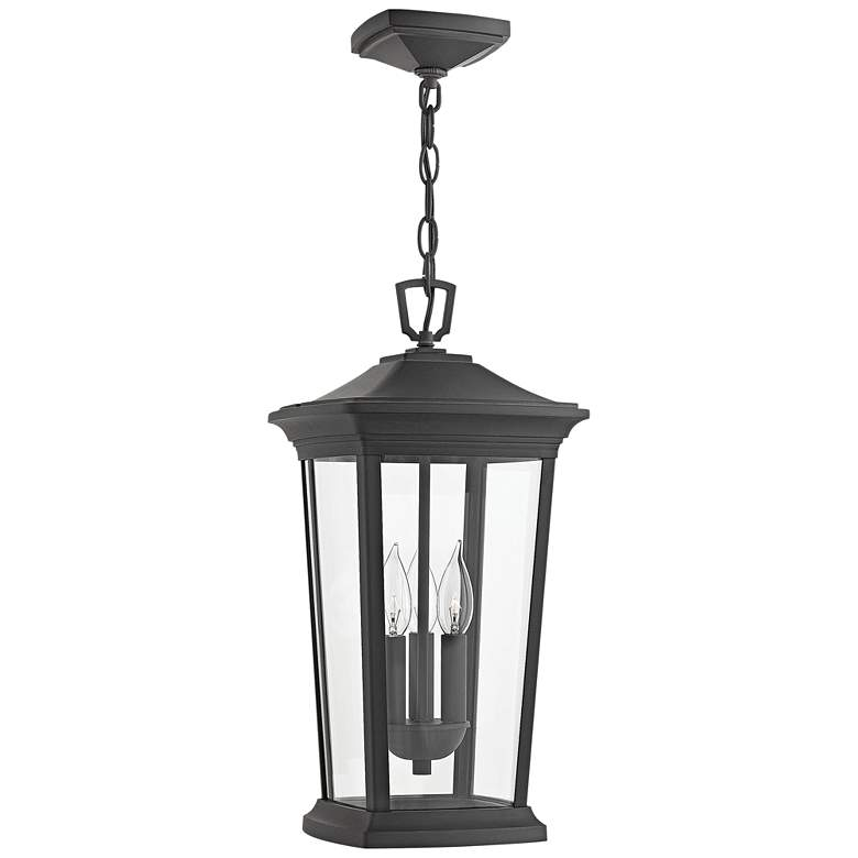 "Hinkley Bromley 19 1/4""H Museum Black Outdoor Hanging Light"