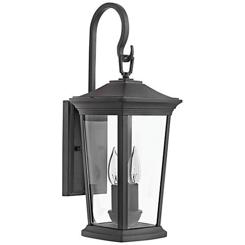 "Hinkley Bromley 20"" High Museum Black Outdoor Wall Light"