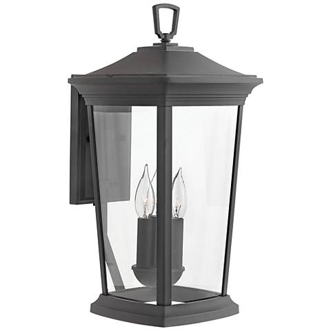 "Hinkley Bromley 19 1/4"" High Museum Black Outdoor Wall Light"