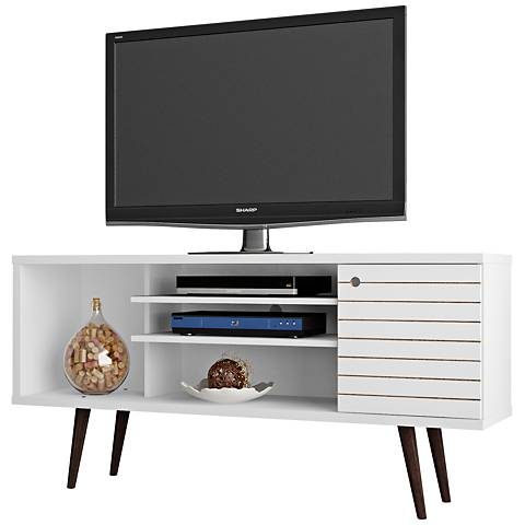 Liberty White Gloss Wood 1-Door TV Stand