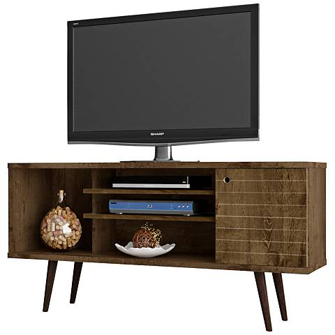 Liberty Rustic Brown Matte Wood 1-Door TV Stand