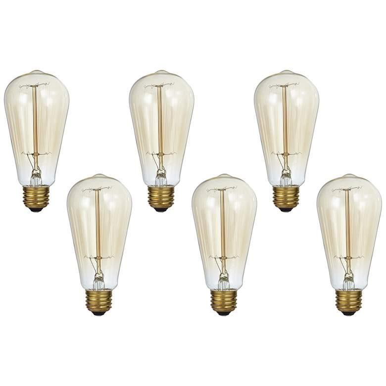 Amber Tinted Clear 60 Watt Standard Edison Style