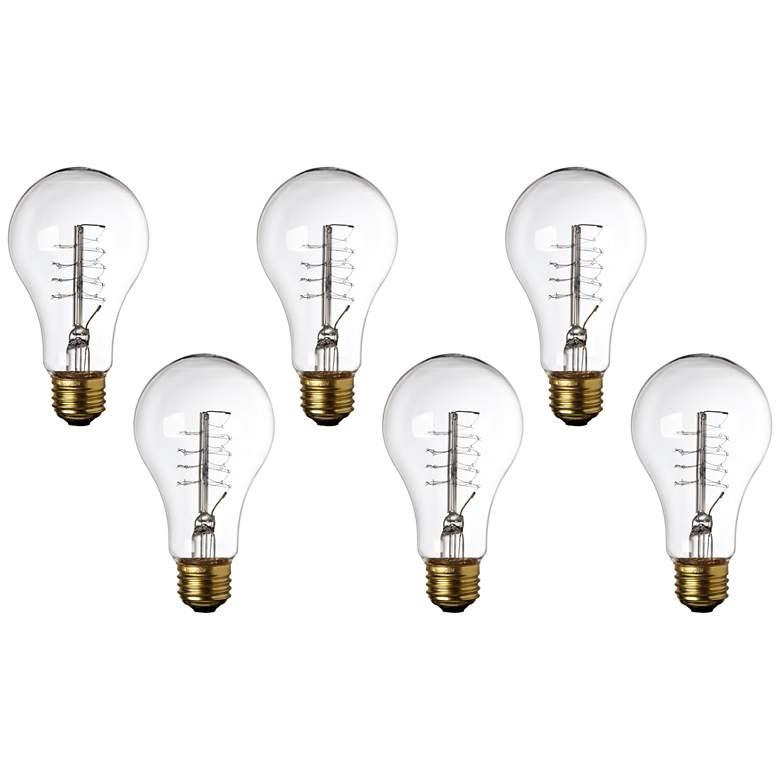 Tesler Clear 60 Watt Standard Base Edison Style Bulb 6-Pack
