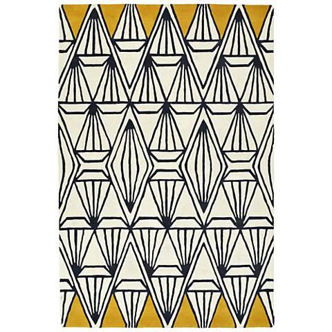 Kaleen Origami ORG01-01 Ivory Wool Area Rug