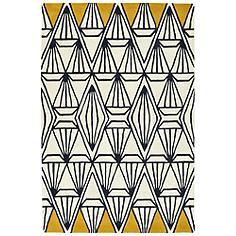 "Kaleen Origami ORG01-01 5'x7'6"" Ivory Wool Area Rug"