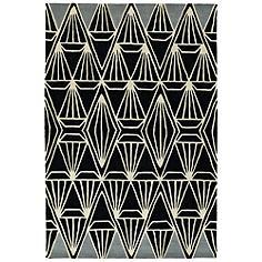 "Kaleen Origami ORG01-02 5'x7'6"" Black Wool Area Rug"
