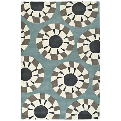 Kaleen Origami ORG03-75 Gray Wool Area Rug