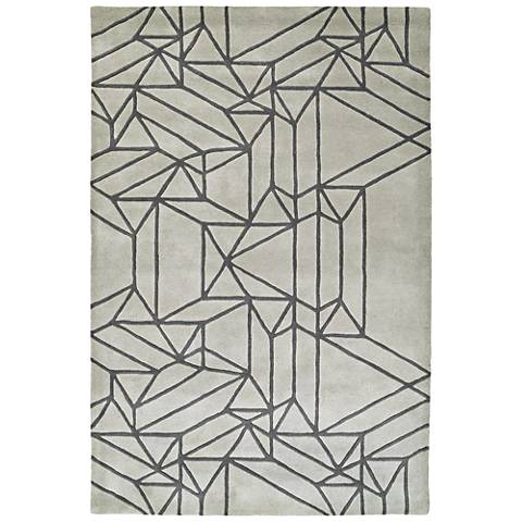 Kaleen Origami ORG04-88 Mint Wool Area Rug