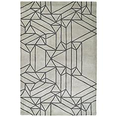 "Kaleen Origami ORG04-88 5'x7'6"" Mint Wool Area Rug"