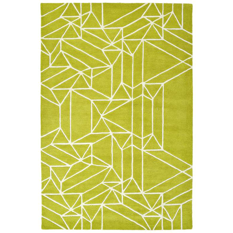 Kaleen Origami ORG04-96 Lime Green Wool Area Rug