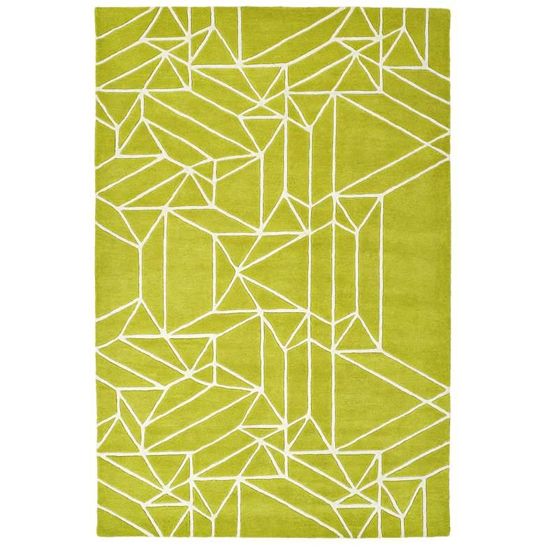 "Kaleen Origami ORG04-96 5'x7'6"" Lime Green Wool Area Rug"