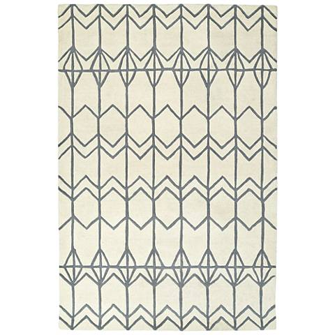 Kaleen Origami ORG05-01 Ivory Wool Area Rug