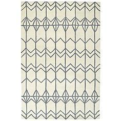 "Kaleen Origami ORG05-01 5'x7'6"" Ivory Wool Area Rug"