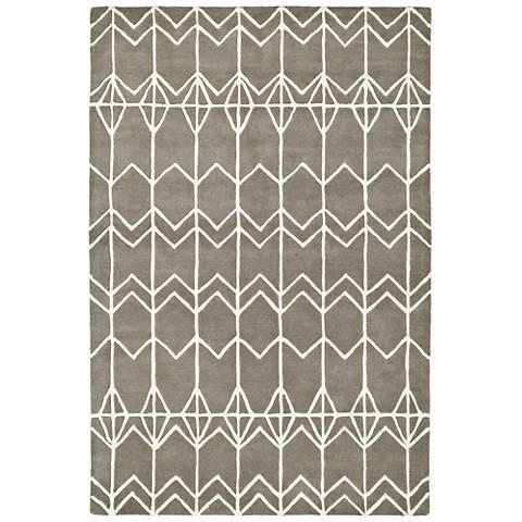 Kaleen Origami ORG05-75 Gray Wool Area Rug