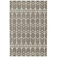 "Kaleen Origami ORG05-75 5'x7'6"" Gray Wool Area Rug"