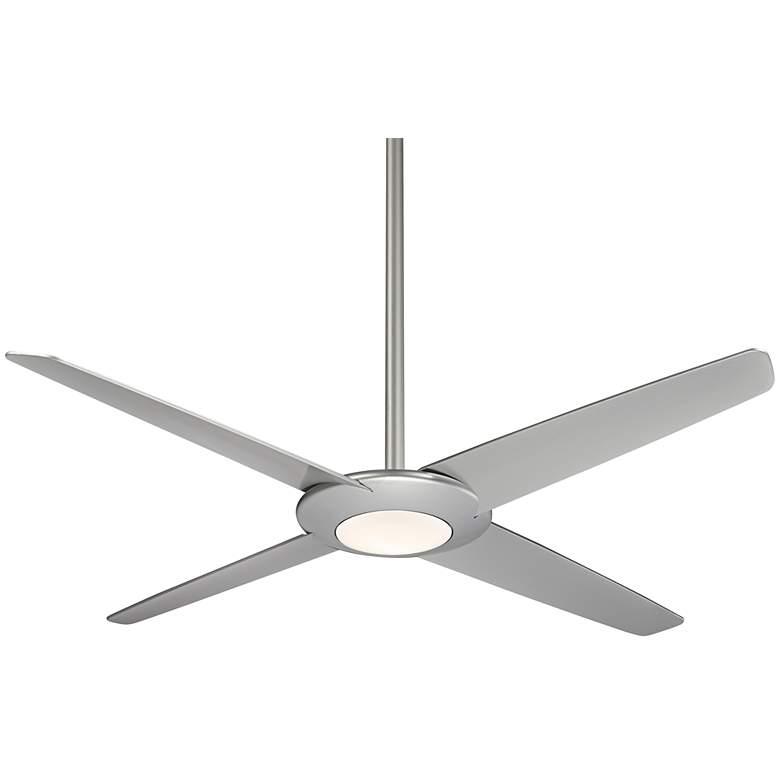 "62"" Minka Aire Pancake XL Silver LED Ceiling Fan"