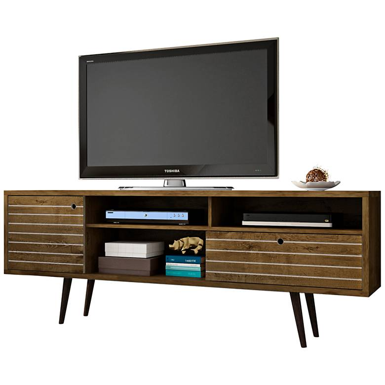 "Liberty 70 3/4"" Wide Rustic Wood Modern TV Stand"