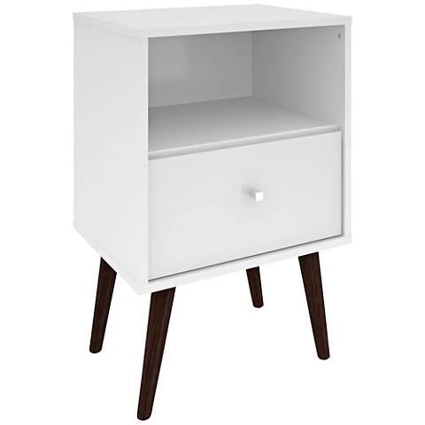 Liberty White Gloss Wood 1-Drawer Nightstand