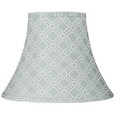 Print pattern lamp shades lamps plus abuddin light blue round bell lamp shade 7x14x11 spider mozeypictures Gallery