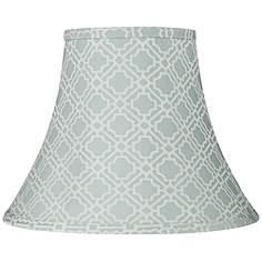 Blue lamp shades lamps plus abuddin light blue round bell lamp shade 7x14x11 spider aloadofball Choice Image