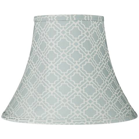 Abuddin Light Blue Round Bell Lamp Shade 7x14x11 (Spider)