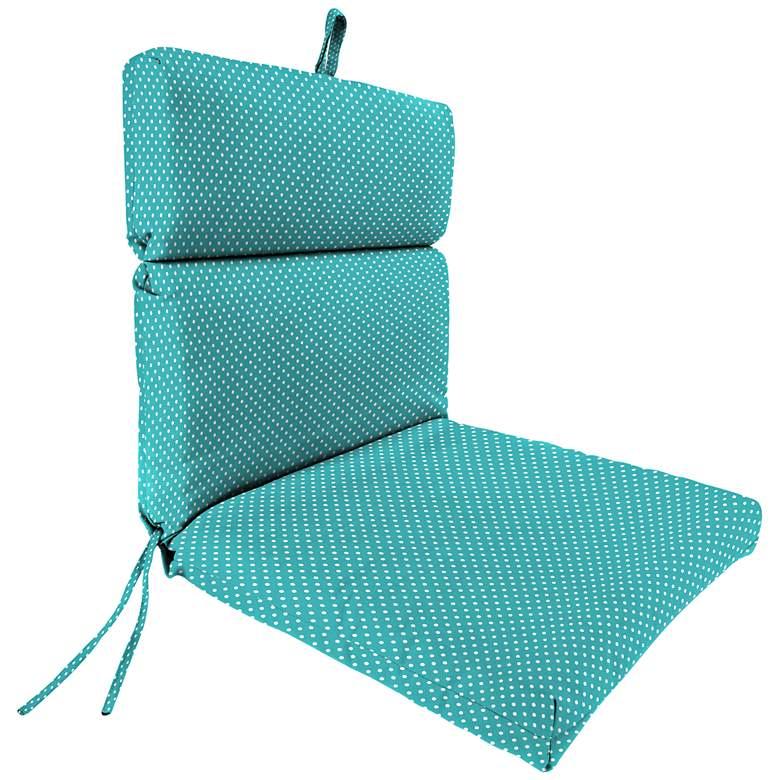Mini Dots Ocean French Edge Outdoor Chair Cushion