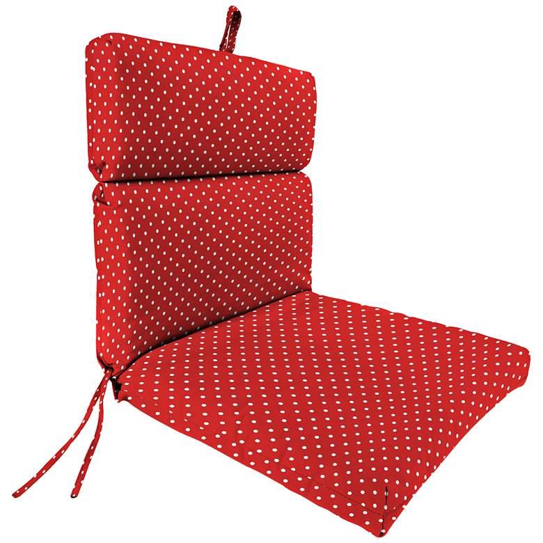 Mini Dots Rojo French Edge Outdoor Chair Cushion