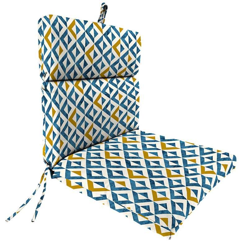 Tropez Cobalt French Edge Outdoor Chair Cushion