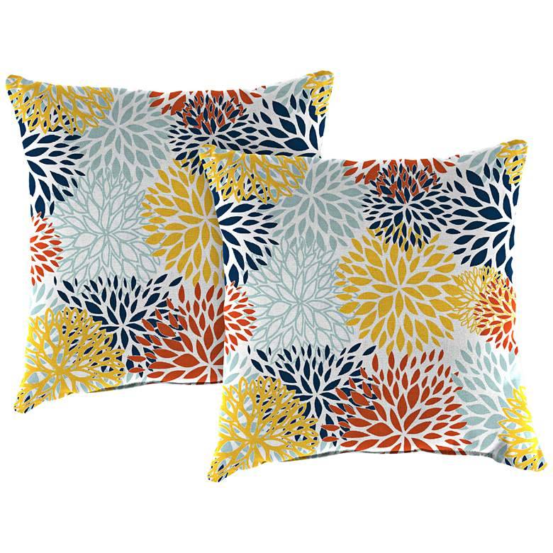 """Blooms Perla 18"""" Square Outdoor Toss Pillow Set of 2"""