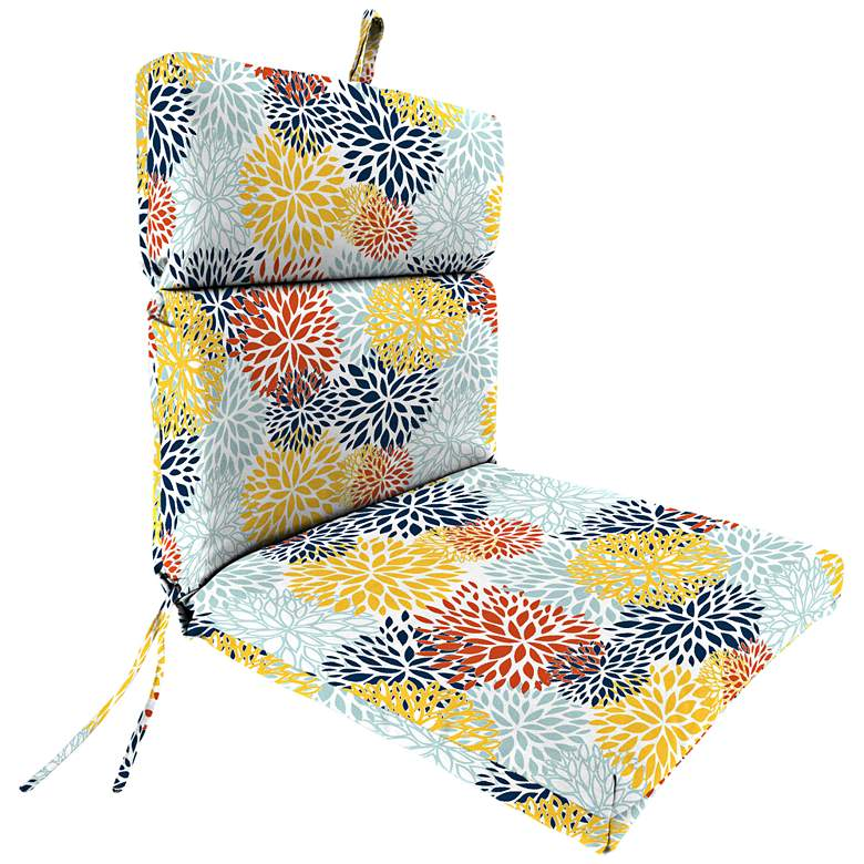 Blooms Perla French Edge Outdoor Chair Cushion