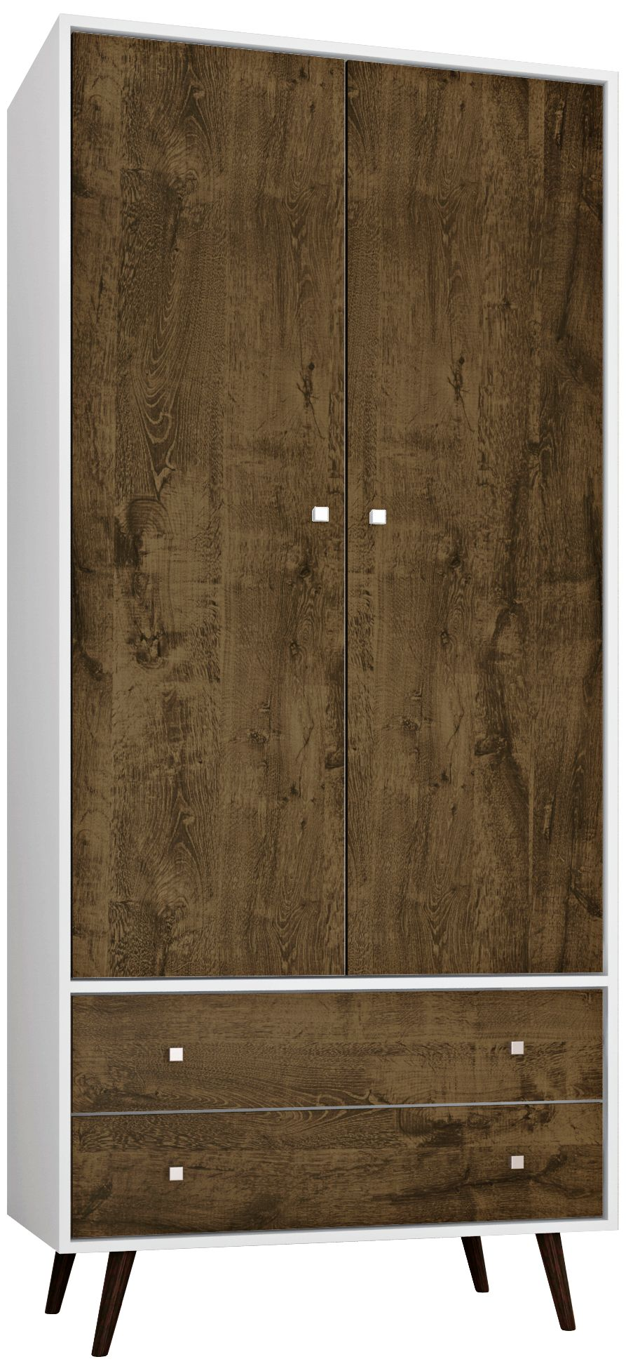 Liberty White And Rustic Brown 2 Door Armoire