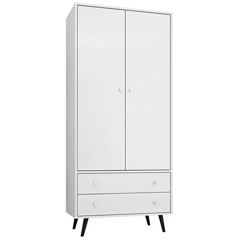 Liberty White Gloss 2-Door Armoire