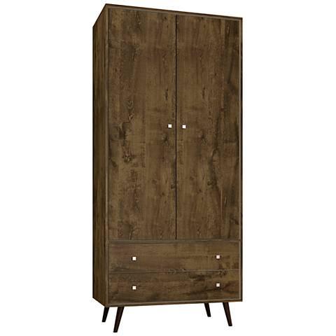 Liberty Rustic Brown 2-Door Armoire
