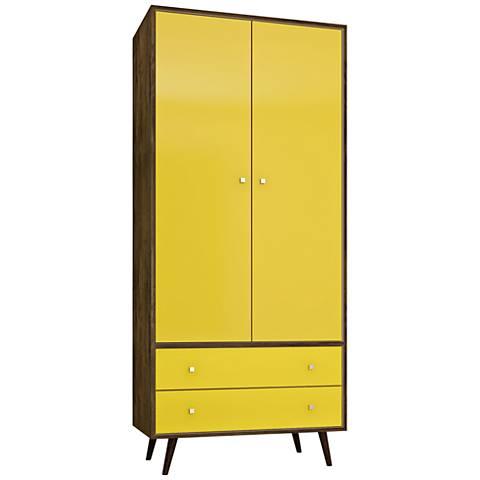 Liberty Rustic Brown and Yellow 2-Door Armoire
