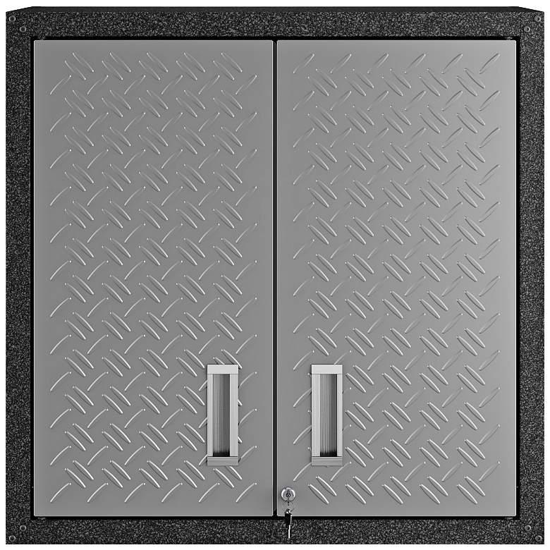 """Fortress 30"""" Wide Metal 2-Door Floating Garage Cabinet"""