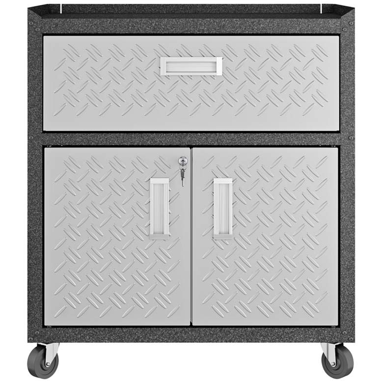 "Fortress 30 1/4"" Wide Metal 1-Drawer Garage Mobile Cabinet"