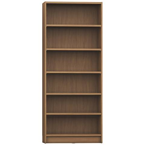 Greenwich Trente Maple Cream 6-Shelf Wide Bookcase