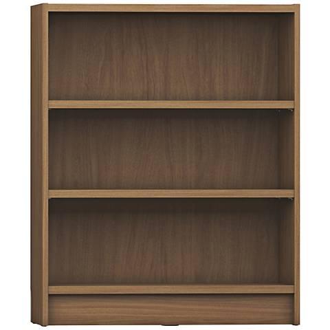 Greenwich Grande Maple Cream 3-Shelf Wide Bookcase