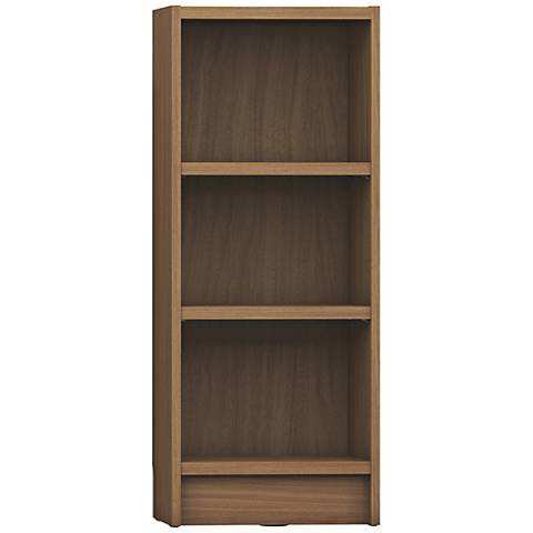 Greenwich Tall Maple Cream 3-Shelf Narrow Bookcase