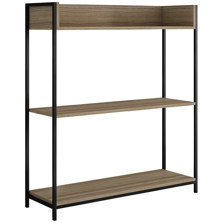 """Ellis 41 1/4"""" High Dark Oak Modern 3-Shelf Bookcase"""